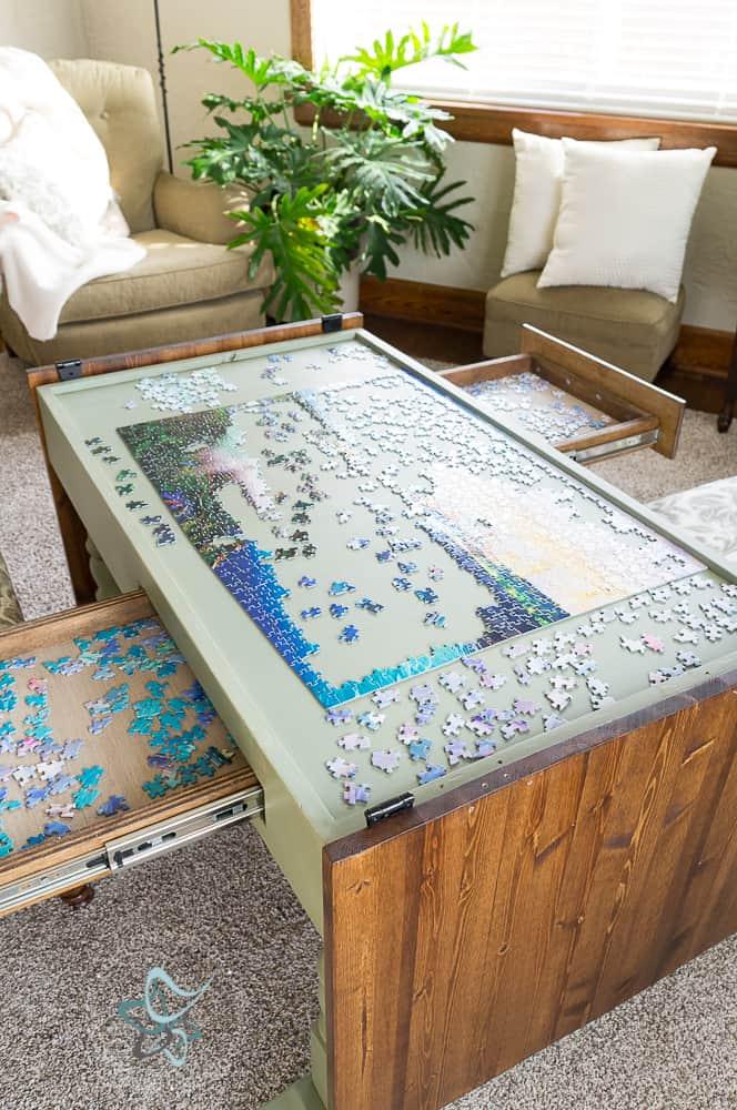 Diy Puzzle Game Table Designed Decor