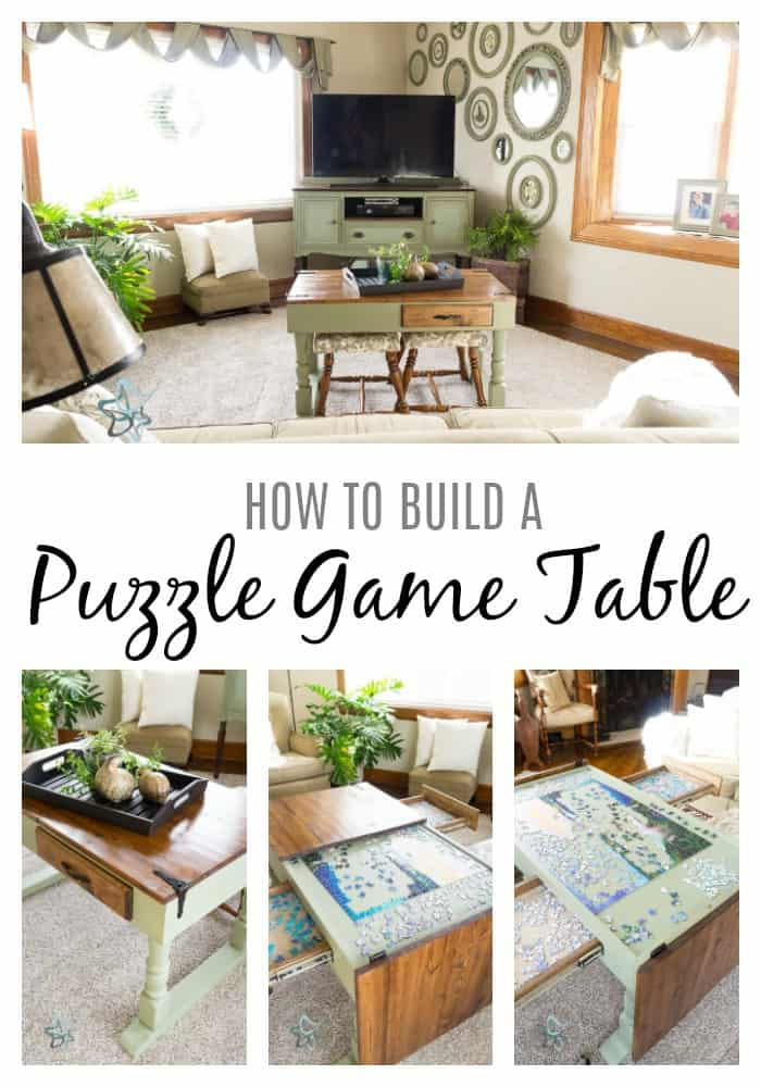 How to build a jigsaw puzzle game table
