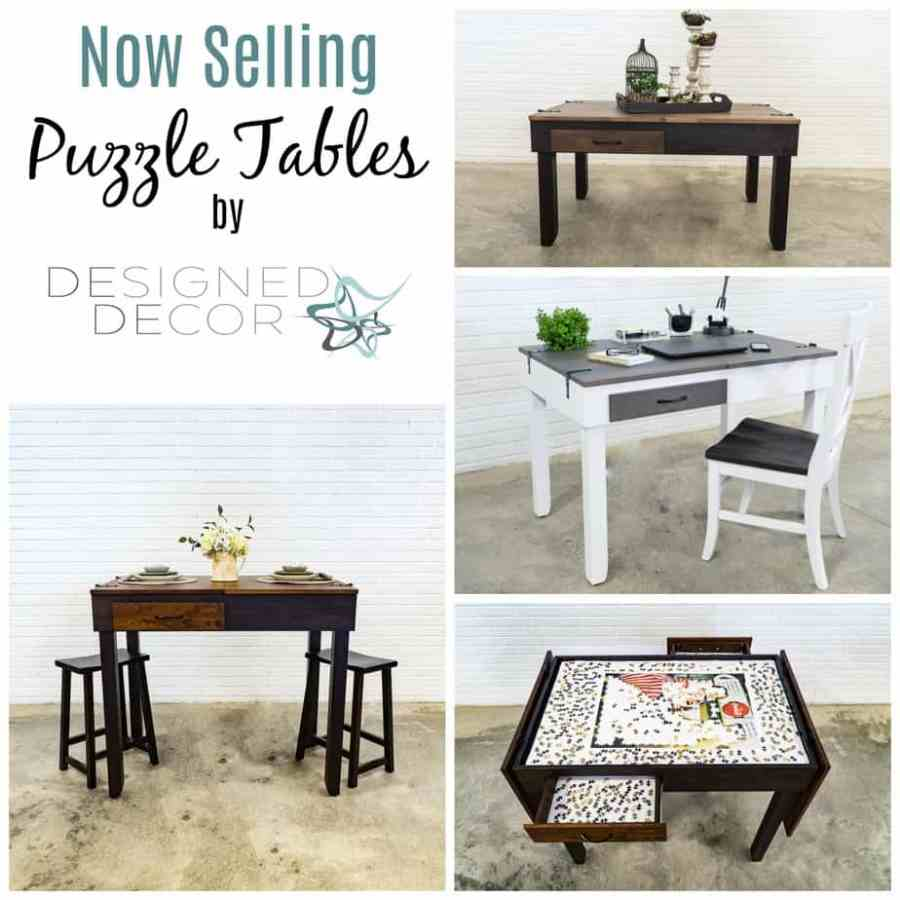 Custom Jigsaw Puzzle Table-for sale -DesignedDecor