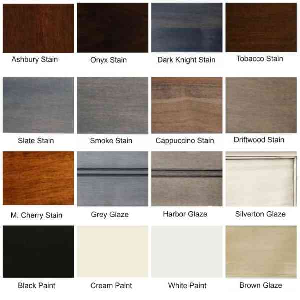 16 different finish options available