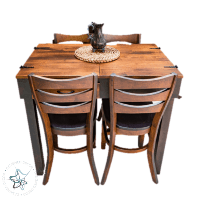 Jigsaw Puzzle Table Pub Height - closed with 4 chairs