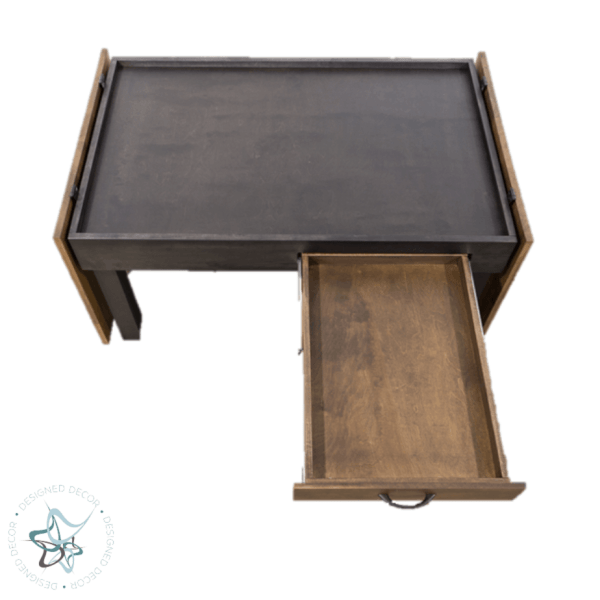 jigsaw puzzle table with open top and drawer