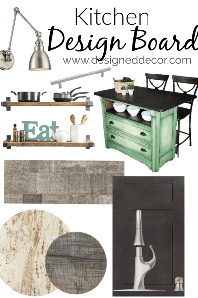 Modern Kitchen Design Board for the Guest Suite