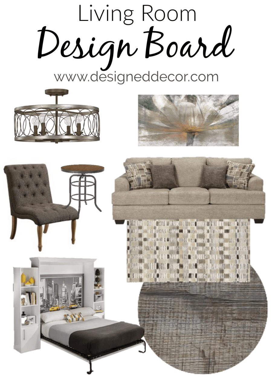 Cozy Modern Living Room Design Board With Vintage Touches Designed Decor