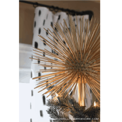 DIY Glitter Starburst Tree Topper- Dwellings by Devore