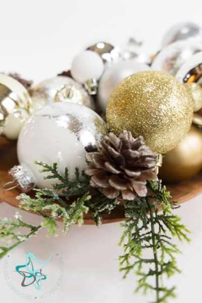 Modern DIY Silver Leaf Christmas Ornaments