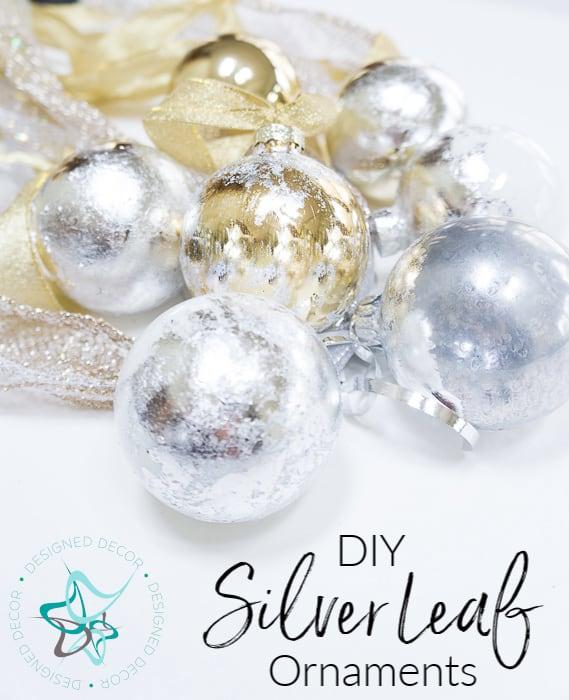 Modern Diy Silver Leaf Christmas Ornaments- Designed Decor