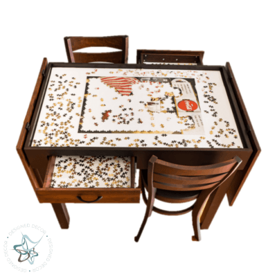 Jigsaw Puzzle Table Pub Height - fully open top