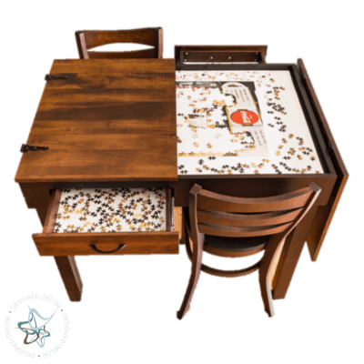 Jigsaw Puzzle Table Pub Height - split top open