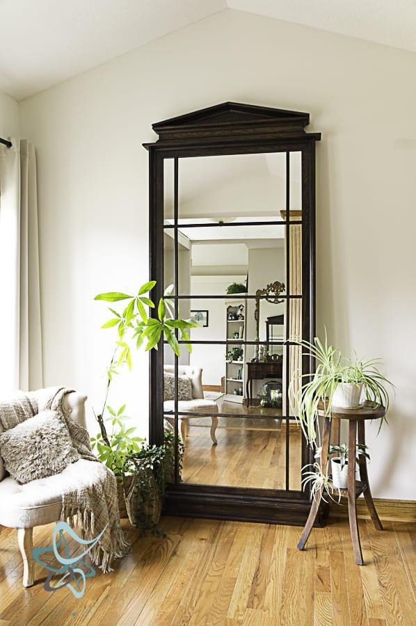beautiful leaning floor mirror
