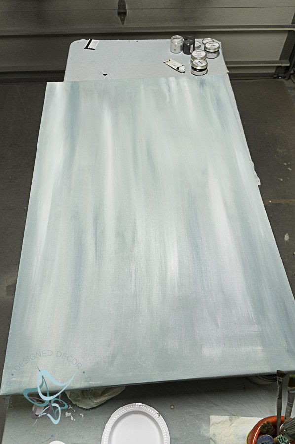 paint blending on an art canvas