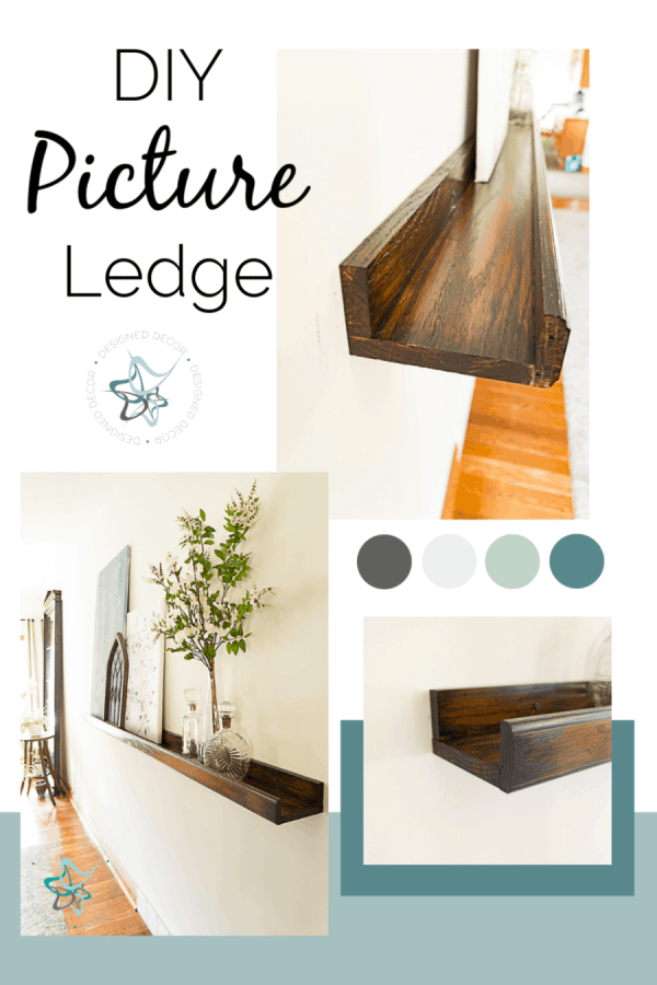 Images of a DIY picture ledge