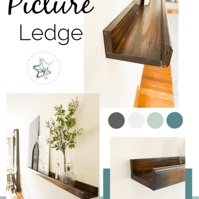 Build an easy DIY picture ledge