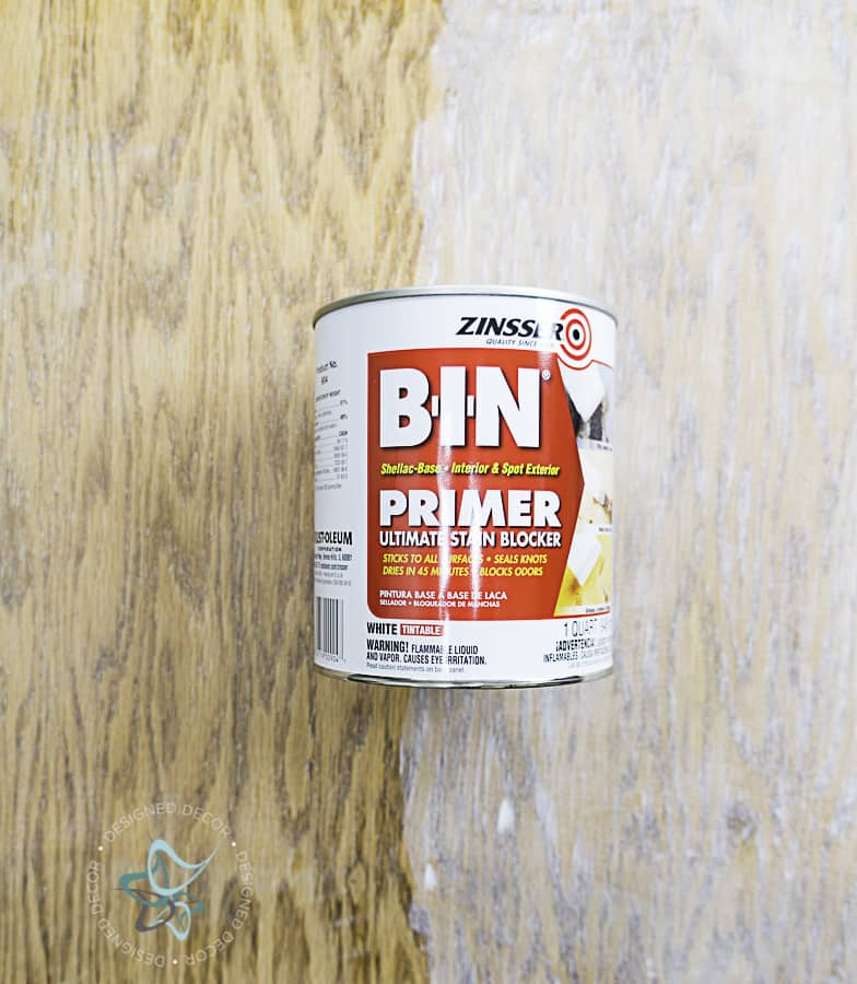 image of a can of Zinsser primer