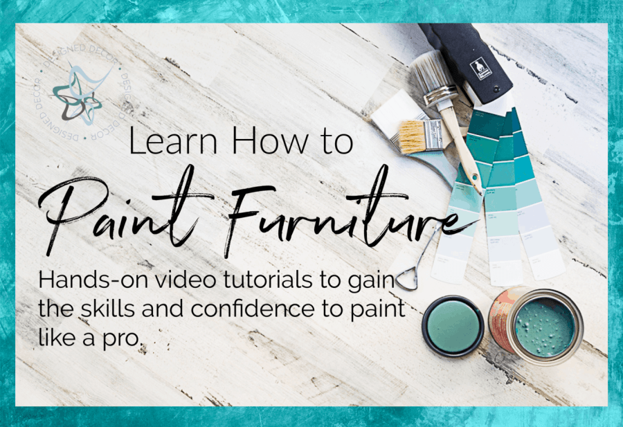 graphic on how to learn how to paint furniture
