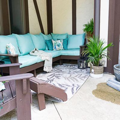 Repurposing wood for a unique diy outdoor sectional sofa