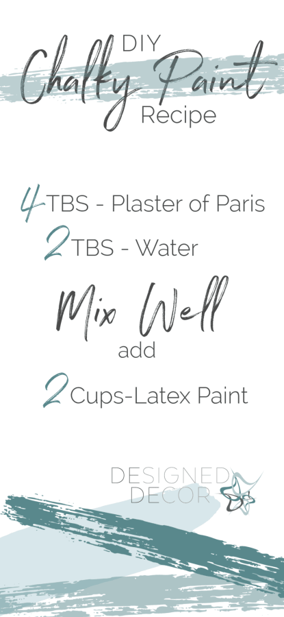 graphic of a DIY chalk paint recipe with directions