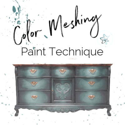 How to paint furniture with a paint meshing technique