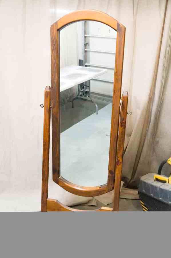 standing swivel floor mirror