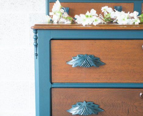Custom Blue Eastlake Dresser-10