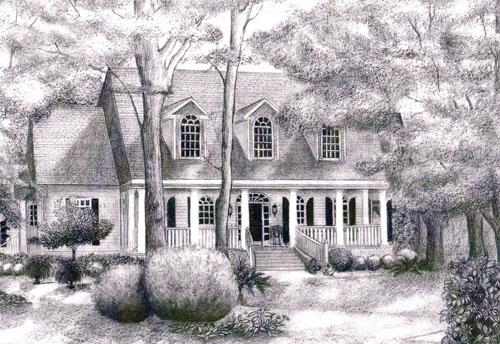 Pencil Home Portrait