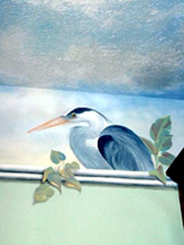 Laundry room heron