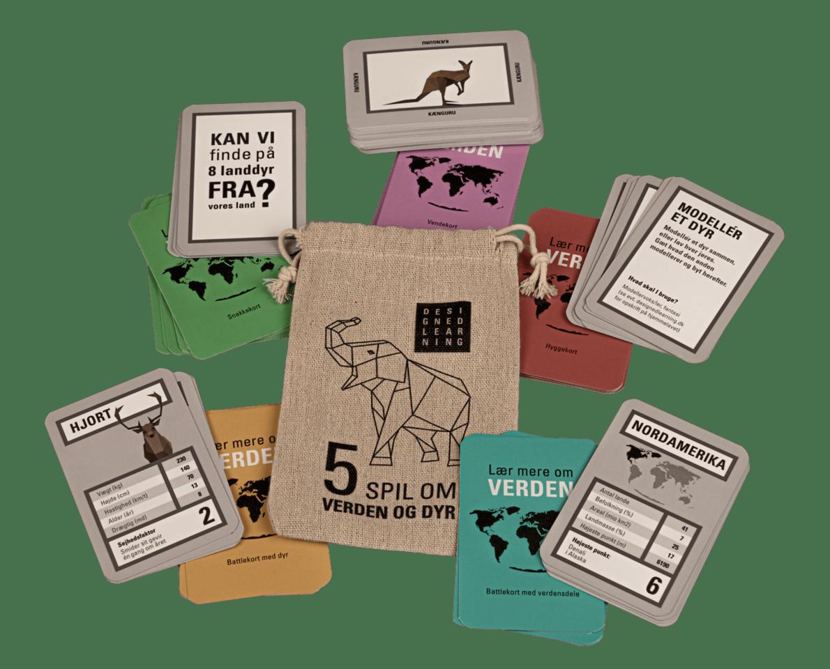 Verdensspil med dyr, læringsspil, verdenspakken