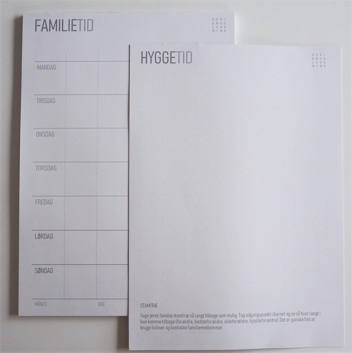 Familietid, Hyggetid, Kalender