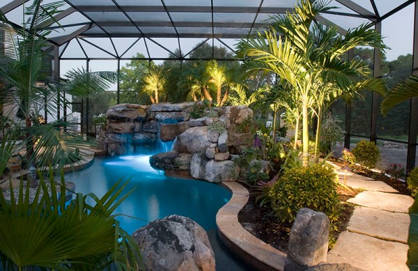 landscaping swimming pools