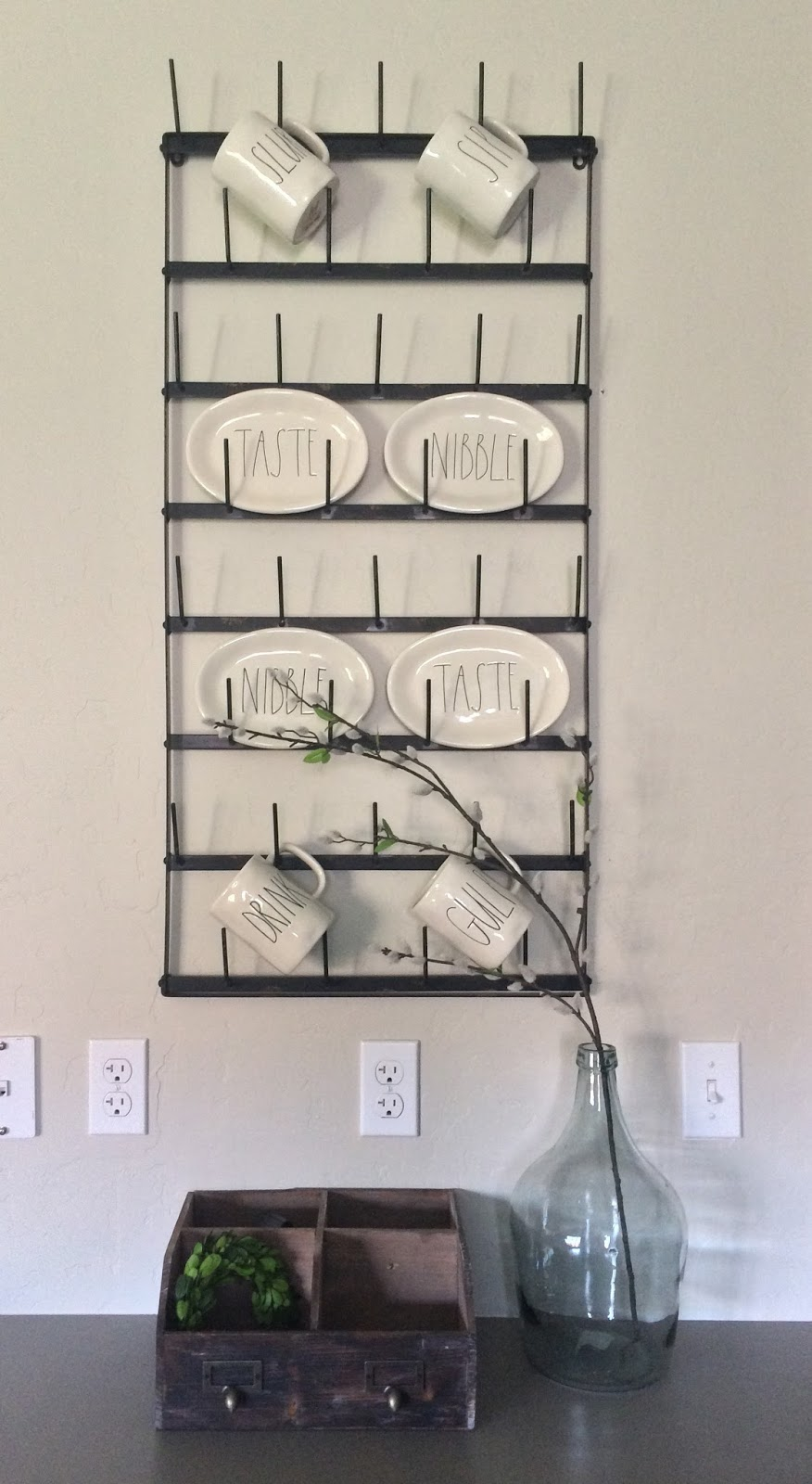 farmhouse kitchen cup rack