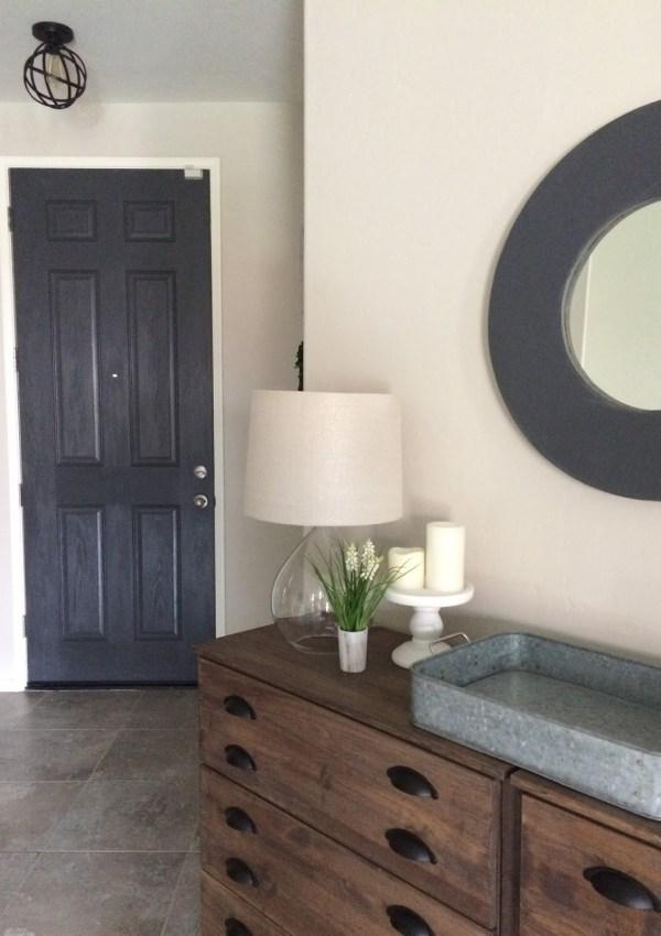 Entryway Makeover – Painted Door & New Light