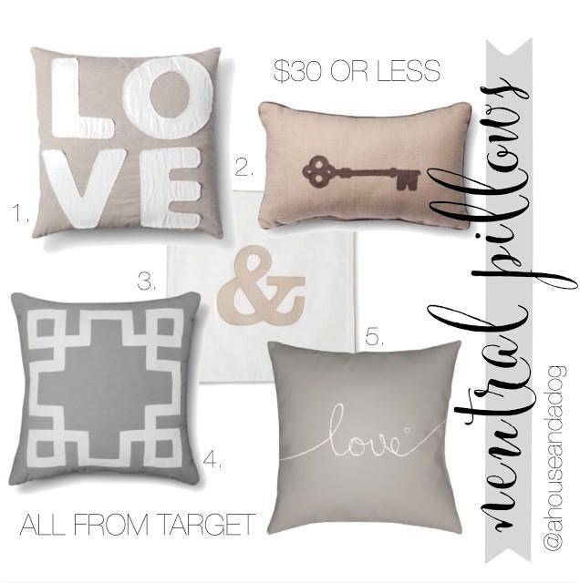 neutral pillows at target