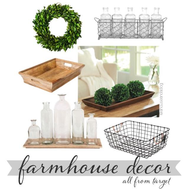 target farmhouse decor