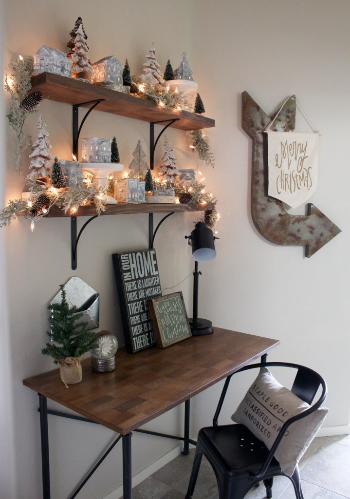 diy rustic christmas village