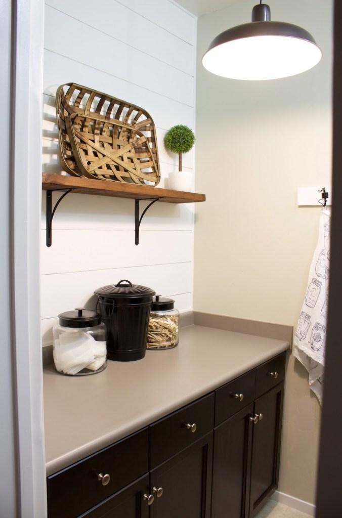 shiplap laundry room