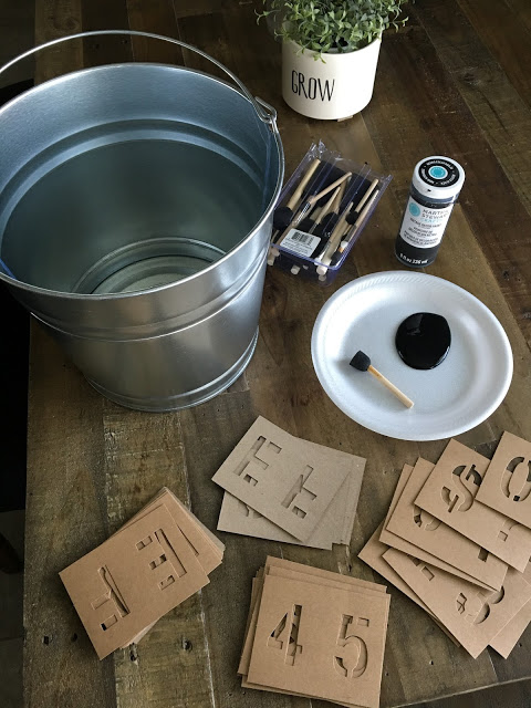 diy flower bucket supplies