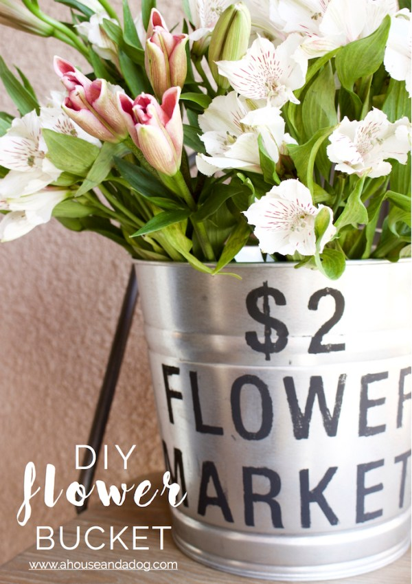 DIY Flower Bucket