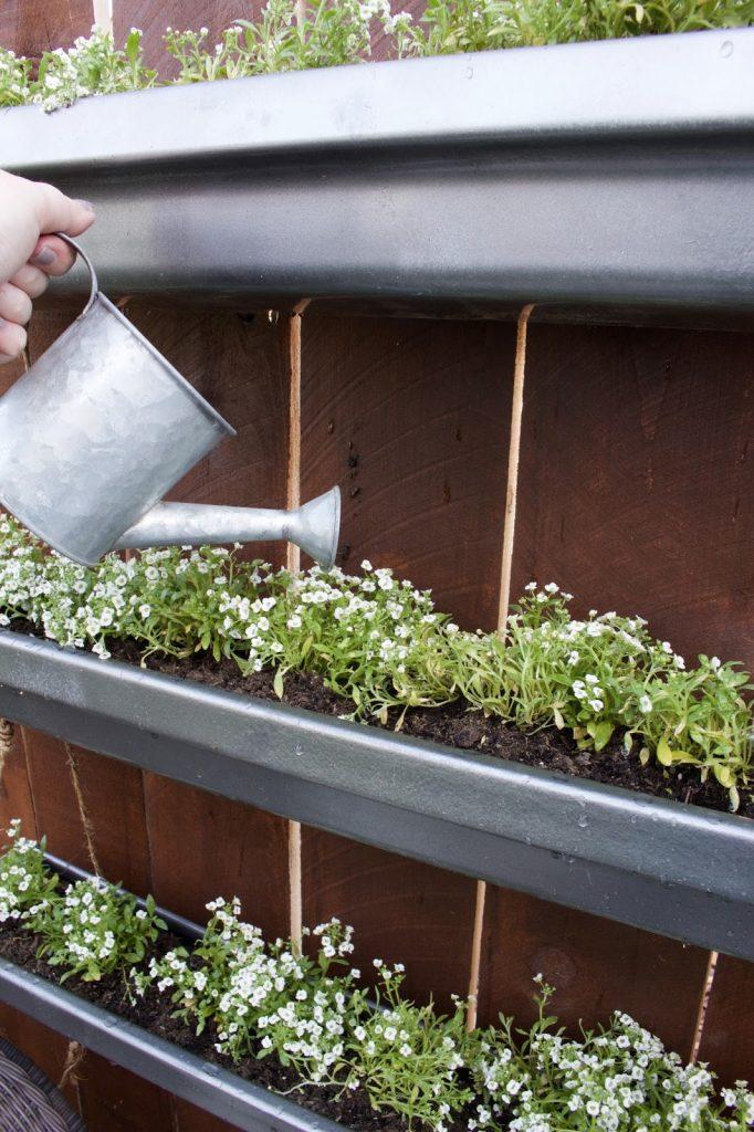 Hanging Gutter Planter Designed Simple