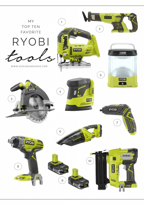 Ryobi Tools – My Top Ten Favorite Tools For Any DIY Project