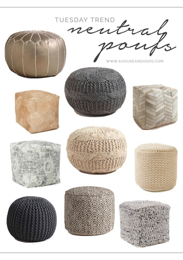 Neutral Poufs – Beautiful & Functional