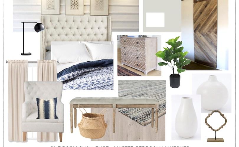 One Room Challenge - Master Bedroom Makeover Design Plan   designedsimple.com