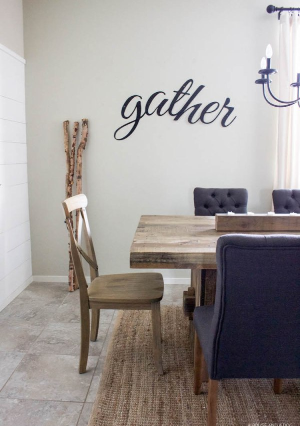 Simple Fall Dining & Gather Sign