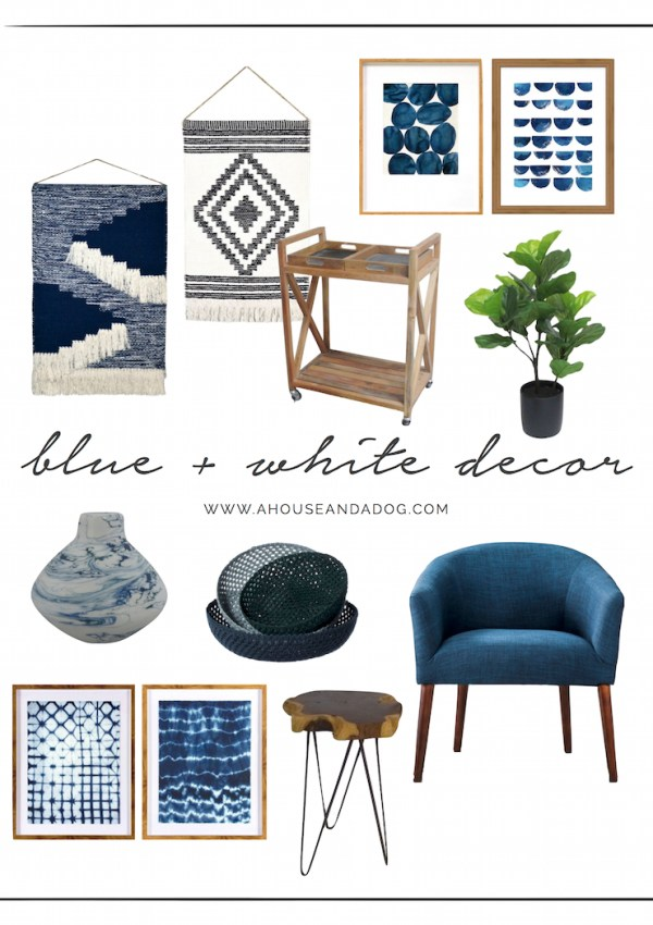 Blue and White Décor