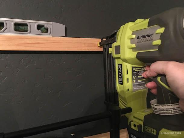 DIY Horizontal Board and Batten Feature Wall | designedsimple.com