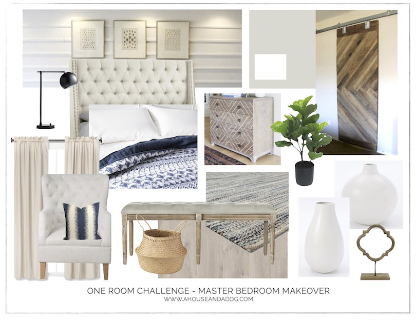 One Room Challenge - Master Bedroom Makeover Design Plan | designedsimple.com