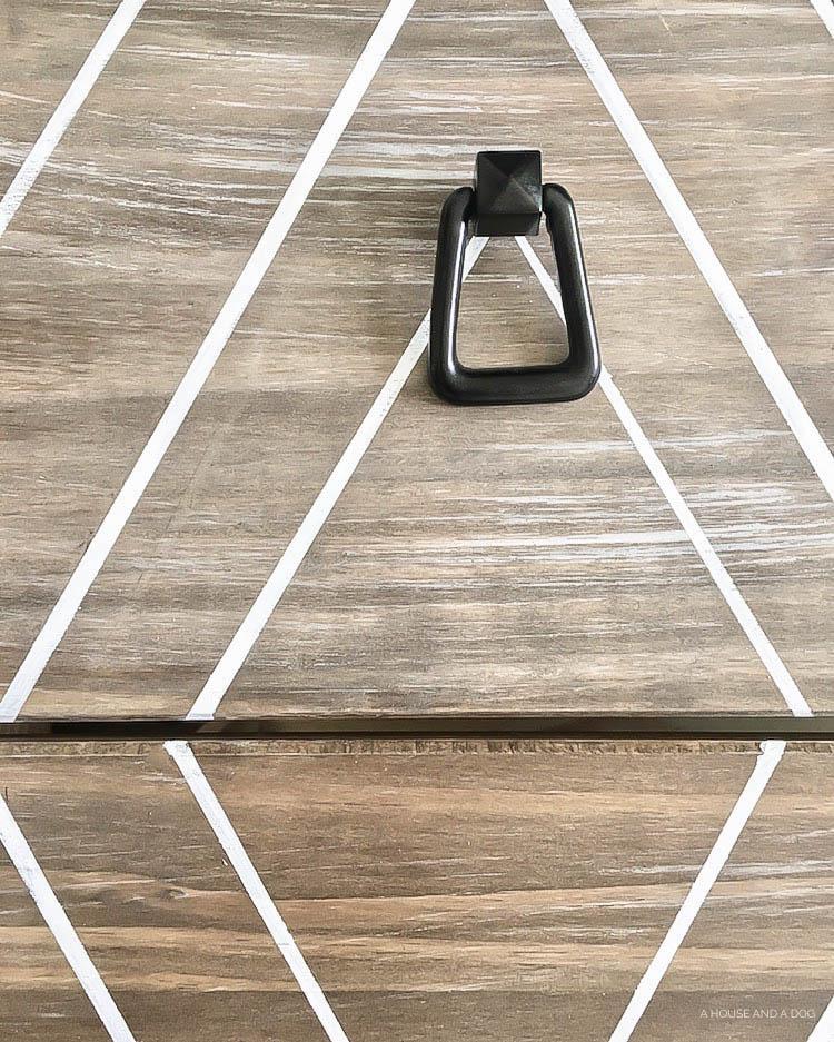 DIY Ikea Hack - Modern Graphic Tarva Dresser   One Room Challenge   designedsimple.com
