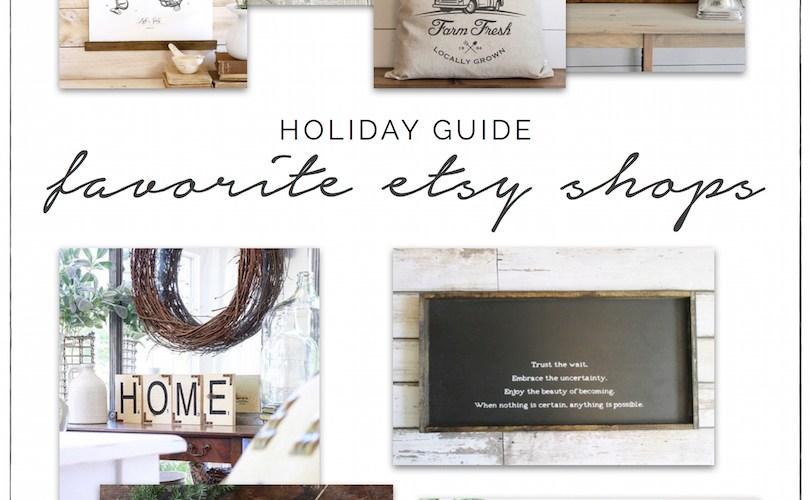 Holiday Shopping Guide - Etsy, Shop Small, Shop Handmade | designedsimple.com
