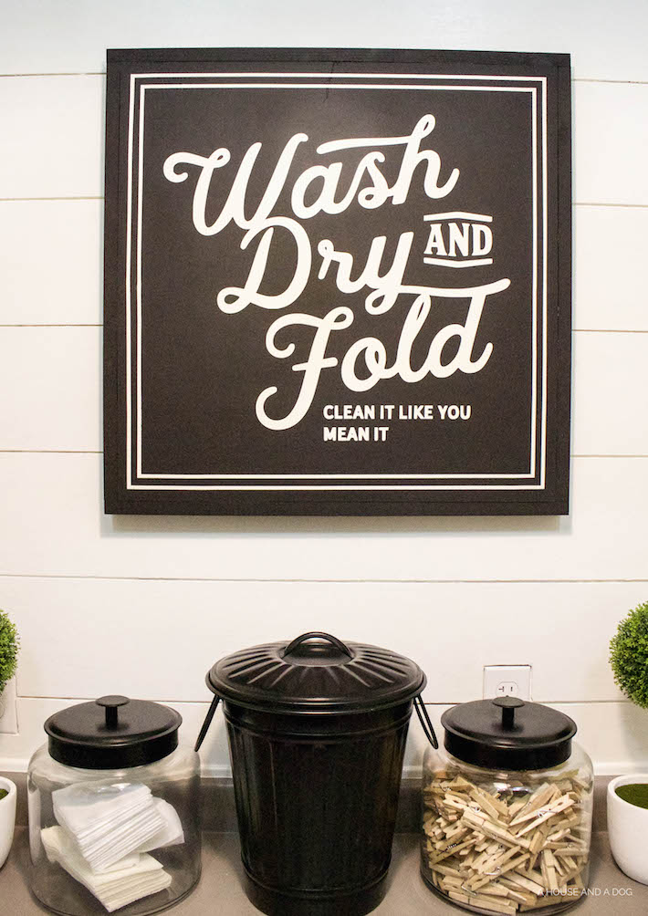 New Laundry Sign & Update One Year Later | designedsimple.com