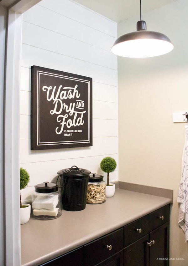 Laundry Room Update + New Sign