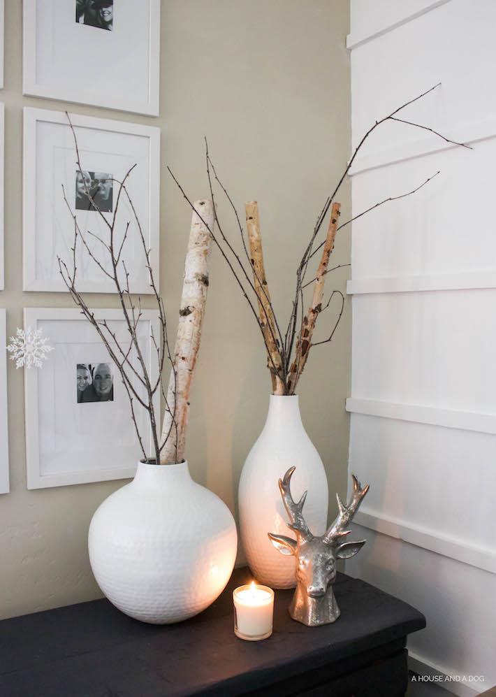 Simple White & Gray Christmas Bedroom 2016 | designedsimple.com